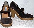 Steve Madden Trikki Womens Oxford High Heels Beige Suede 7 5