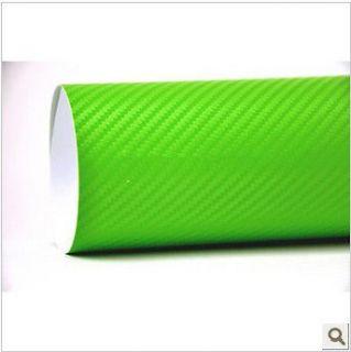 24 x 50 Green CARBON FIBER VINYL AUTO CAR WRAP sheet roll film