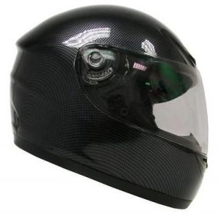 XL Black Carbon Fiber Motorcycle Full Face Street Sport Bike Helmet