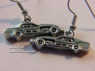 dirt track racing charm earrings auto race car racing jewelry