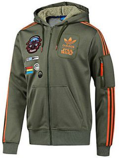 adidas star wars rebel xwing military hooded jacket xl