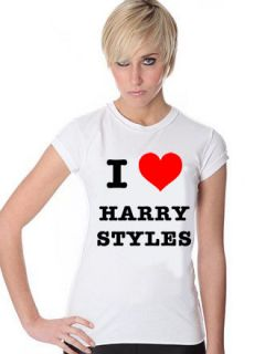 HARRY STYLES T SHIRT I LOVE HARRY STYLES T SHIRT GIRLS LADIES AND