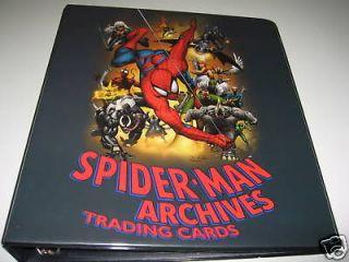 2009 spider man archives full master set of 100 save