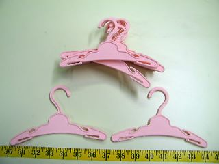 12 7 INCH PINK DOLL HANGERS FITS AMERICAN GIRL DOLL CLOTHES