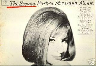 The Second Barbra Streisand Album VG+ LP 1963 Old Vinyl Record Album