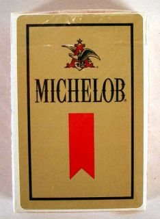 vintage michelob beer gold playing cards mint sealed time left
