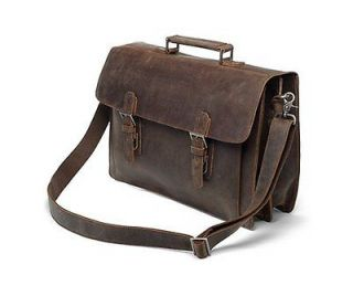 Vintage Style Leather Briefcase Messenger Laptop Bag Business Satchel
