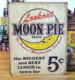 Old Style MOON PIE METAL SIGN 5 Cents Store Restaurant Rustic Garage