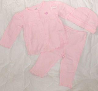 NEW 9 Mon Carters Shirt Pants Hat Princess Baby Girl Elephant Pink