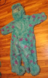 Monsters INC Sully Full Size Plush Costume sz XS 4 5T