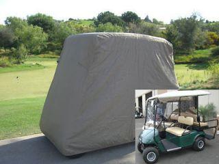 Passengers Golf Cart Cover, Fit EZ Go, Club Car, Yamaha Cart Taupe