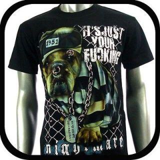 RC Survivor T Shirt Biker Metal Rock 3D Tattoo T20 Sz M Indie Graffiti