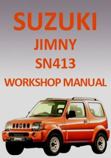 Suzuki Jimny SN413 1998 2010 Workshop Manual on CD Plus Free