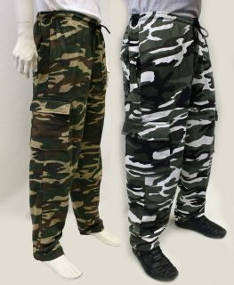 Combat Military Army training style sweat pants camo joggers