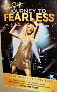 TAYLOR SWIFT JOURNEY To FEARLESS Original Promo Poster Very COOL