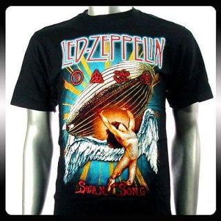 Led Zeppelin Hard Metal Rock Punk Band Men T shirt Sz M Le9