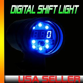 universal digital shift light digital tach blue led time left $ 53 99