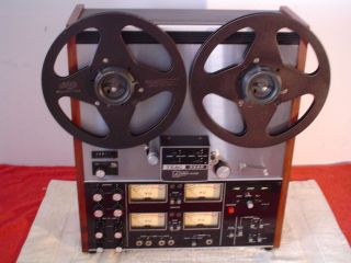 teac 3340 4 channel reel to reel deck time left