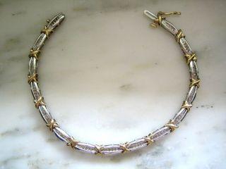 10 kt yellow white gold diamond bracelet 58 11 time