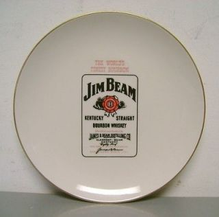 CORP JIM BEAM KENTUCKY BOURBON WHISKEY COLLECTOR PLATE VINTAGE OLD