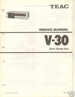 original teac service manual v 30 cassette deck time left