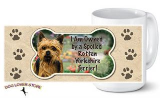 Yorkie Ceramic Dog Breed Coffee Mug Tea Cup 14 oz.   USA Made