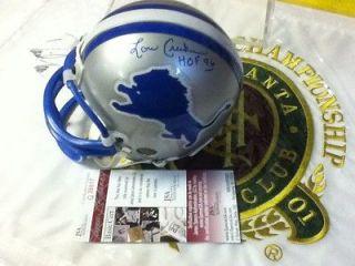 Lou Creekmur (d) Joe Schmidt HOFers~Autographed Detroit Lions Helmet
