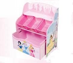 NEW Disney Princess 3 Bin Organizer With Roll Out Toy Box FREE
