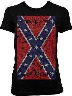 Flag Oversize Juniors Girls Shirt Redneck Southern Rebel Tees