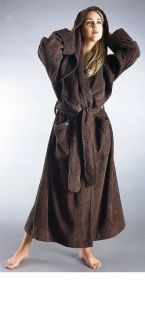 Womens Bathrobe Full Length Long Sleeve 100% Turkish Cotton Hooded XL