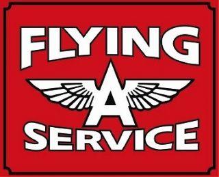 FLYING A GAS GASOLINE Oil Vintage Style Metal LARGE 25.5 Sign Decor
