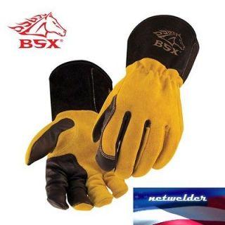 BSX Premium 3 Kidskin Finger Cowhide Back TIG Welding Gloves   BT88