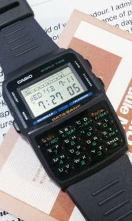 Casio DataBank Calculator 100 Data World Time Alarm Rasin Digital