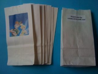 12 peter pan and tinkerbell party favor loot bags time