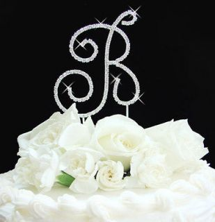 wedding cake toppers monograms