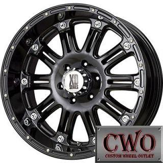 17 Black XD Series Hoss Wheels Rims 6x139.7 6 Lug Chevy GMC 1500 Titan