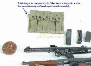 DRAGON 1:6 M1A1 THOMPSON MACHINE GUN 5 CELL Magazine Ammunition POUCH