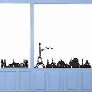 TOWER wall Stickers Mural PARIS Room Decor Art Vinyl Decals Black