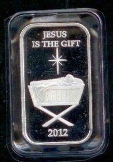Silver Bar Christmas 2012 Gods Gift Jesus Manger Bible Love Gift Box