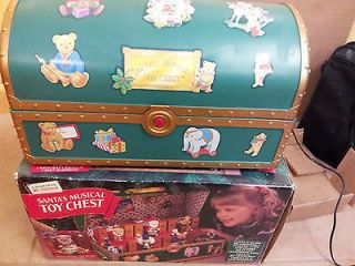 Vintage, Mr. Christmas SANTA MUSICAL TOY CHEST Collectibles 1994