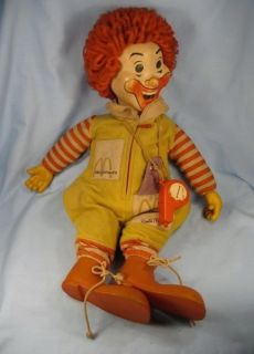 Vintage Large Ronald McDonald Doll Toy McDonalds Used To Talk ? Worn