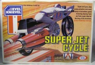 Evel Knievel Vintage Super Jet Cycle with Figure Ideal (Mint In