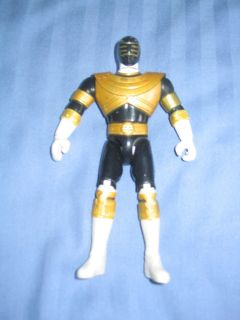 POWER RANGERS ACTION RANGER FIGURE TREY ZEO BLACK GOLD BODY TWISTS