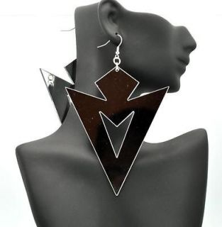 Poparazzi Inspired 5 Silver Mirror Hoops Earrings Basketball Wives