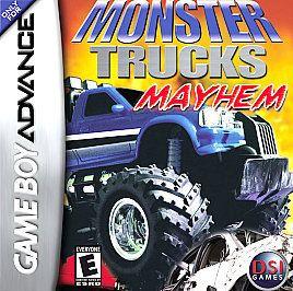 monster trucks mayhem game boy advance gba sp ds time