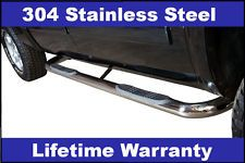 Chevy GMC Pickup Truck SUV Stainless 3 Round Nerf Bar Side Rail Step
