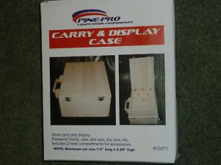pinewood derby carry and display case kit new time left
