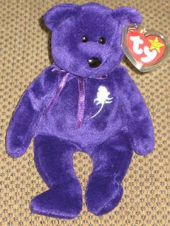 5026 ty beanie baby original babies princess diana bear retired