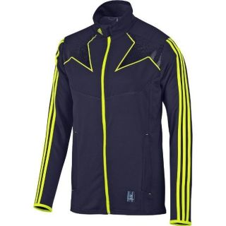 Adidas Predator UCL Jacket Football Training Track Navy Yellow XS S
