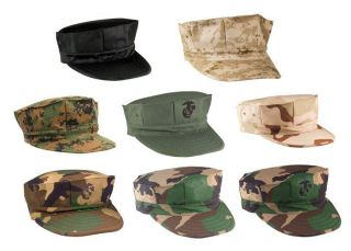 Fatigue Caps (Marine Corp Camouflage Hats, Military Utility Covers